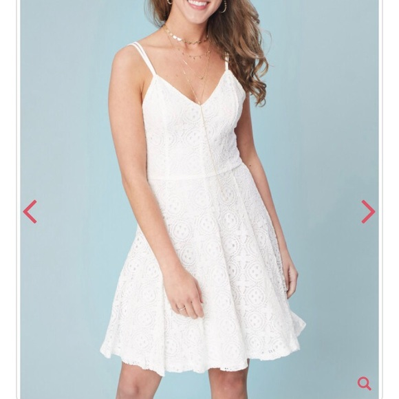 Altar'd State Dresses & Skirts - Altar'd State White Lace Fit n Flare Dress